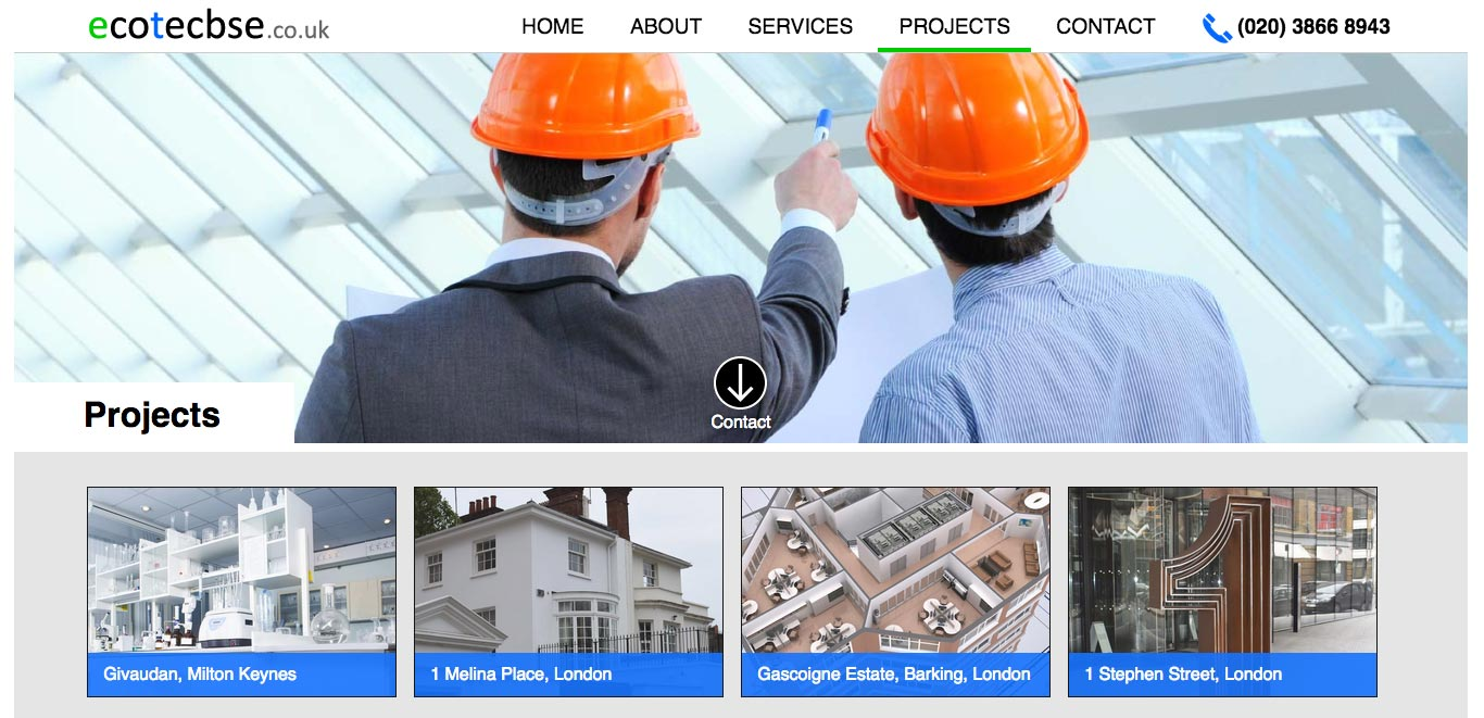 Ecotec Building Services Engineers website